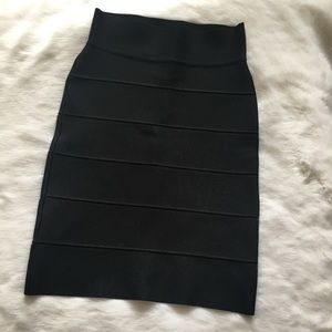 BCBG Black Bandage Pencil Skirt Long